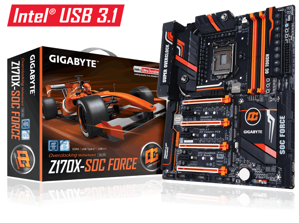 GIGABYTE™ GA-Z170X-SOC FORCE (rev. 1.0)