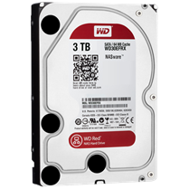 WD HDD Caviar Red 3TB  7200Rpm, SATA3 6Gb/s, 64MB Cache