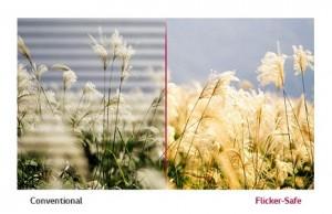 Công nghệ Flicker-Safe giảm rung, nhấp nháy